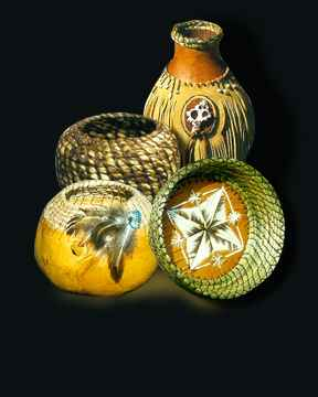 Gourds and Baskets by Jacqueline Carlson